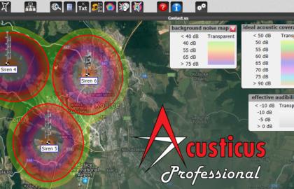 Как оценить и установит уровни фонового шума в программе Acusticus