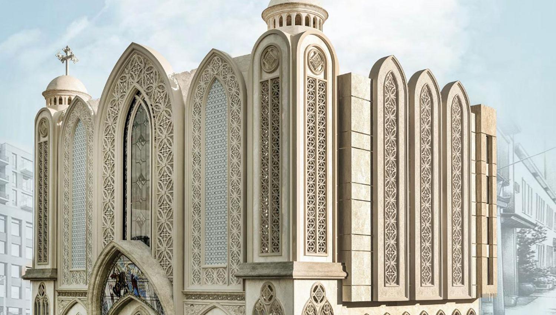 Церковный колокол Urban M звонит по самому большому району Каира, Египет