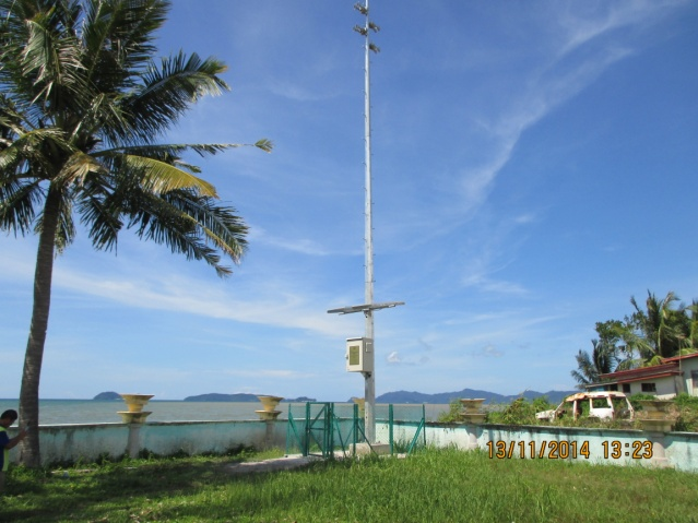 Tsunami siren warning system for the Malaysian government agency