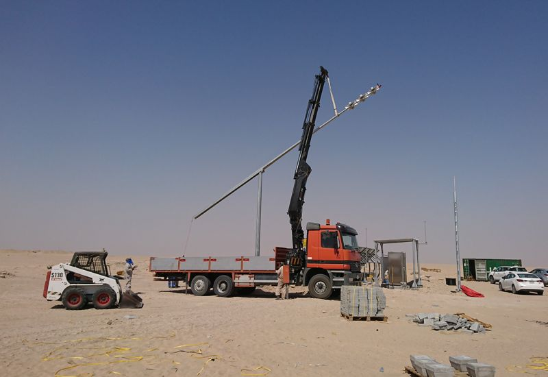 Early Warning System for the Kuwait Oil Company - Electronic outdoor