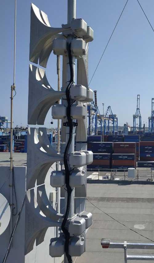 electronic siren port