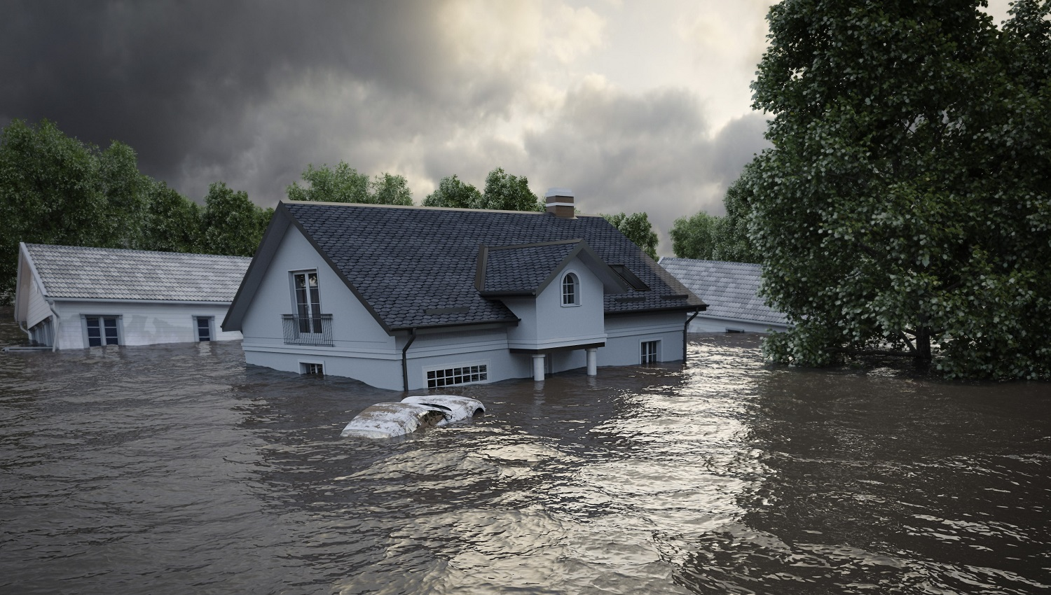 What kind of warning system should be used in flood-risk areas?