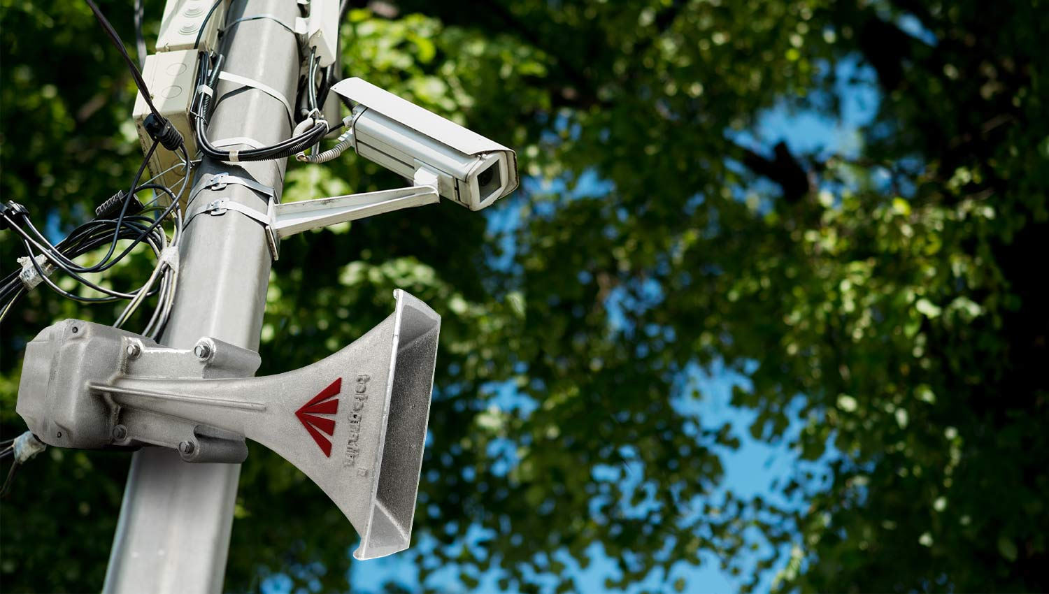 CCTV Combined with an Acoustic Warning and PA System