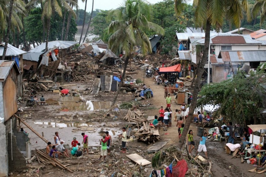 A residential area in Cagayan de Oro City, Mindanao, in the aftermath Tropical Storm Washi. Credit UNICEF