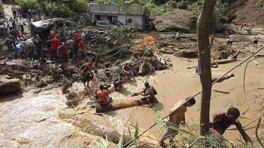 Floods and landslides devastated towns in a mountainous area near Rio de Janeiro, Photo STRINGER BRAZIL