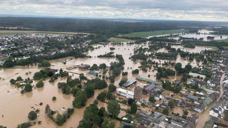 Flooding in Bliesheim Germany - source - Stadt Erftstadt