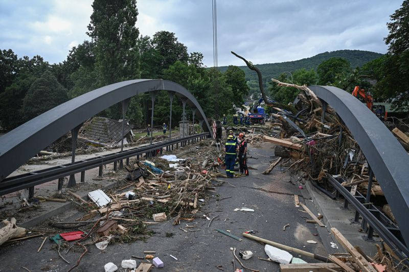 One of the Bridges destroyed by the Ahr River - source - Lena Mucha for The New York Times